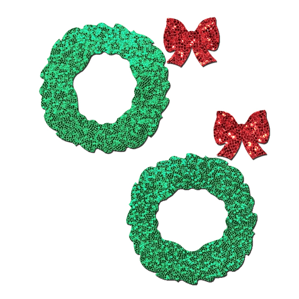 Glitter Wreath and Bow Pasties