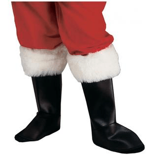 Santa Boot Tops Deluxe With Trim