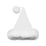 White Velvet Plush Santa Hat