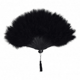 Black Marabou Feather Fan 11X20""