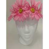 Pink XL Daisy Head Wrap