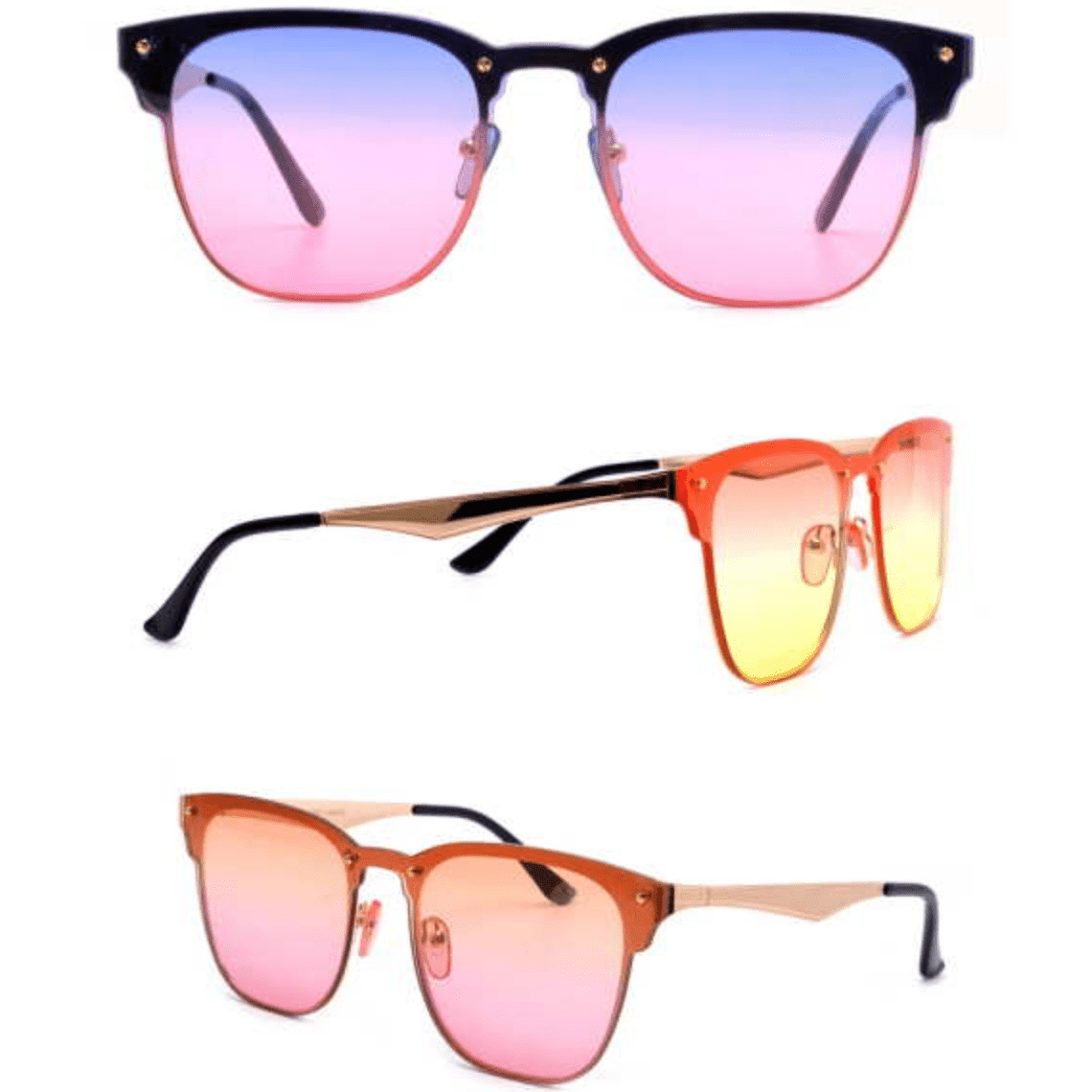 OCEAN LENS, COOL WAYFARER SOHO LOOK, METAL ARMS