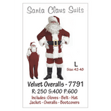 Santa Suit with Overalls, 7791