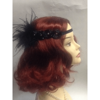 Black on Black 1920's Headwrap