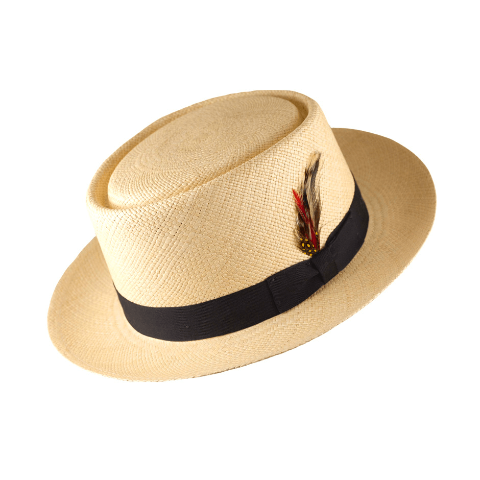 Natural Panama Pork Pie Straw Hat - M