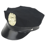 Navy Cotton Police Hat with Badge