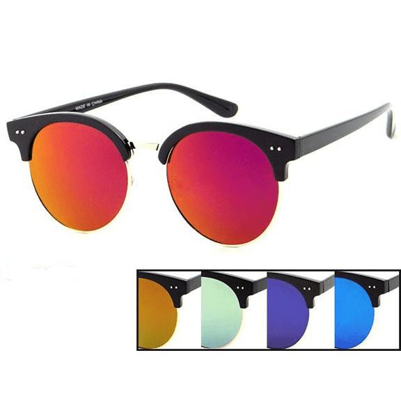 Soho Large Round Shape Sunglasses with Revo Lens^