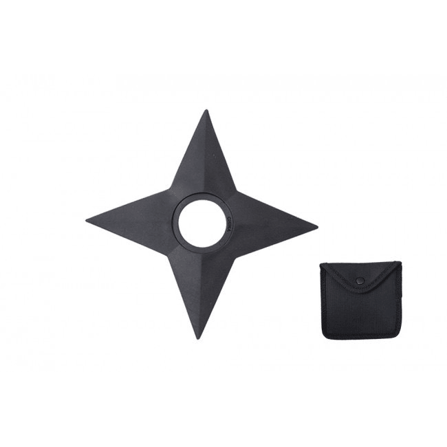 Black Rubber 4 Point Training  Throwing Star