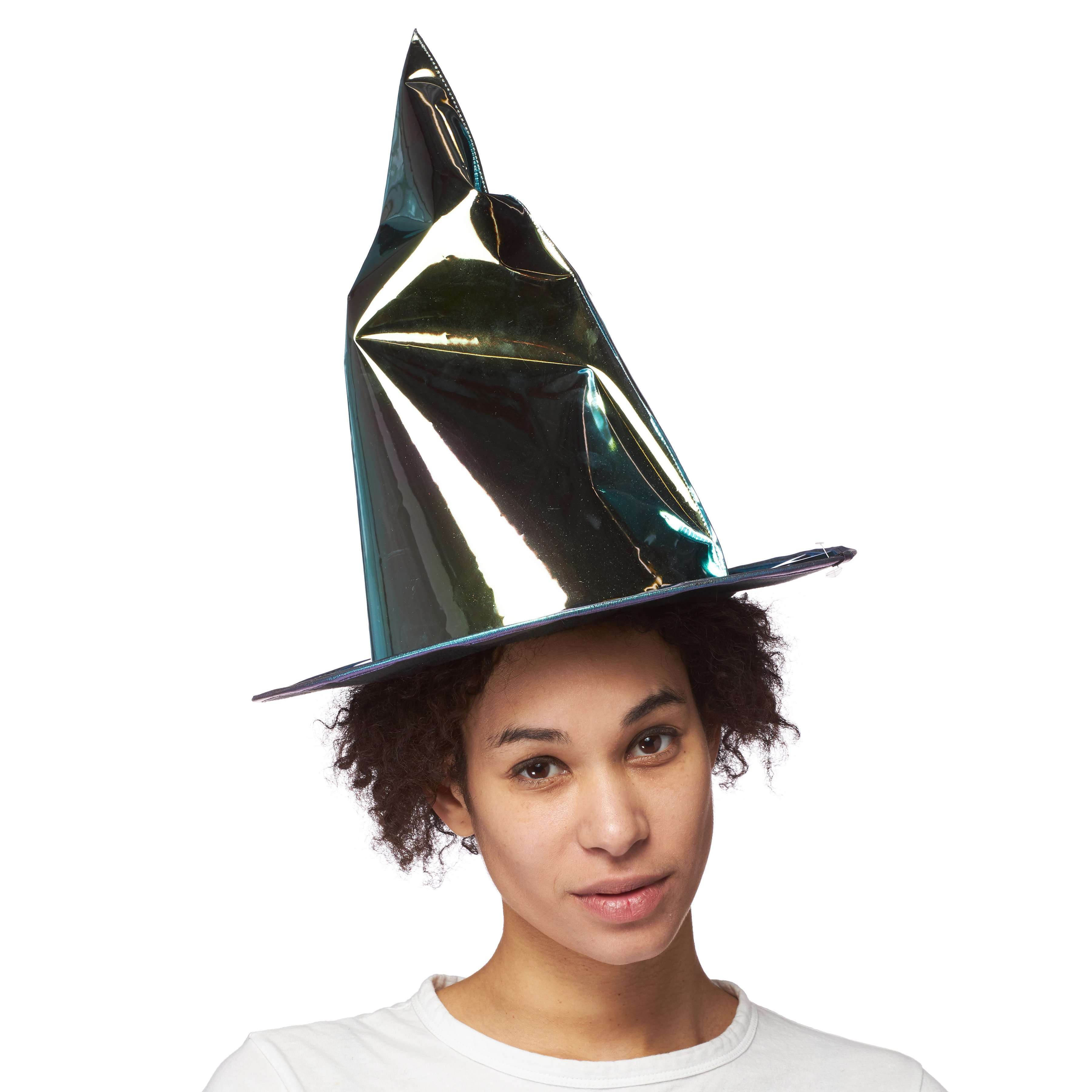 Festival Witch Hat w/ Silver Mirror