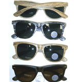 BLUES BROTHERS STYLE IN WOOD GRAIN LOOKING SUNGLASSES
