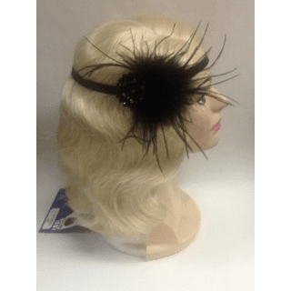 1920's Art Deco Headwrap With Glass Beading