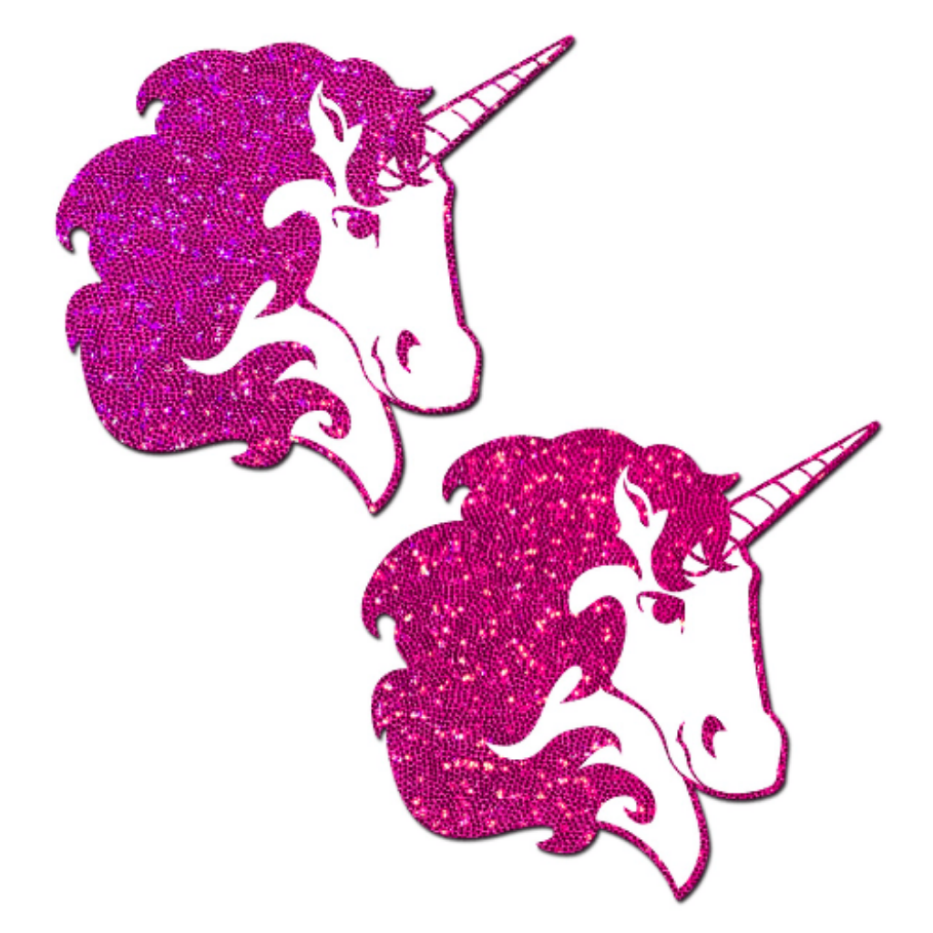 Hot Pink Glitter Unicorn Pasties
