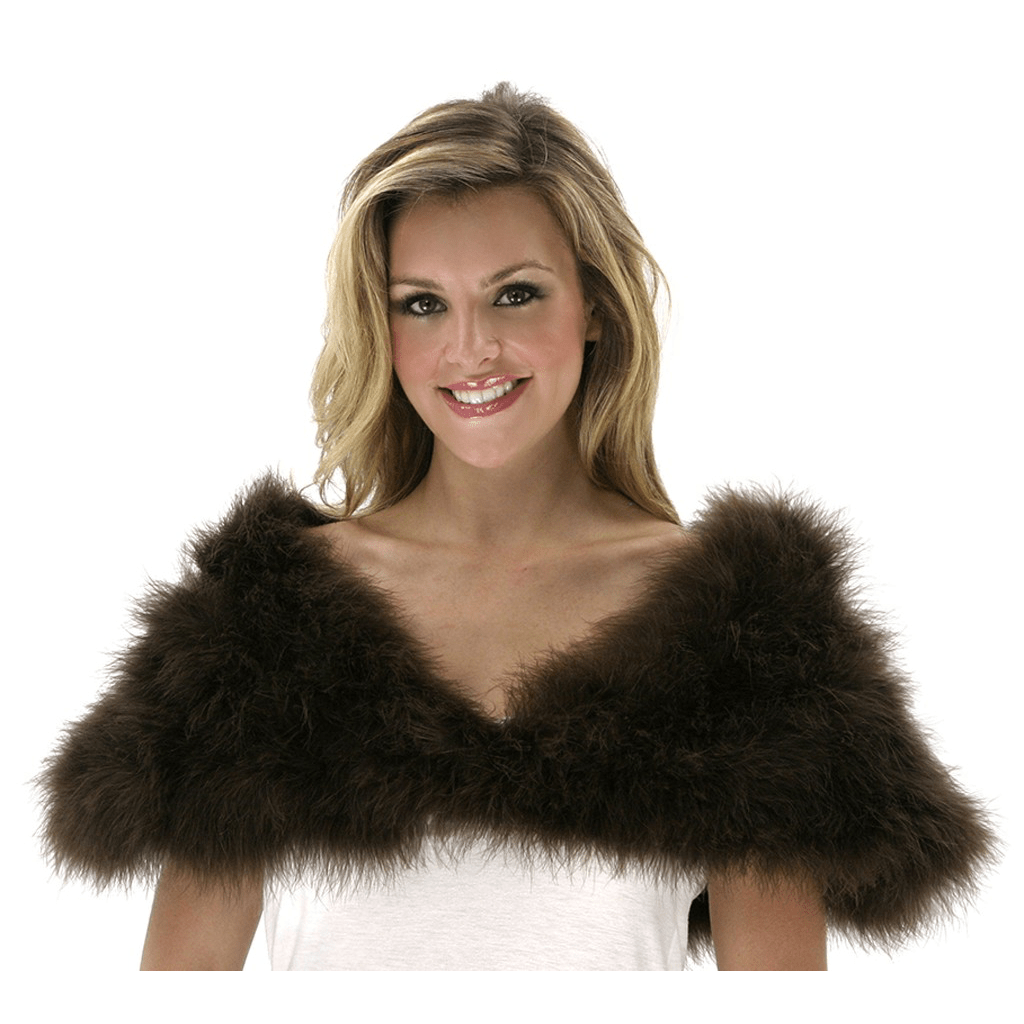Brown Marabou Shawl