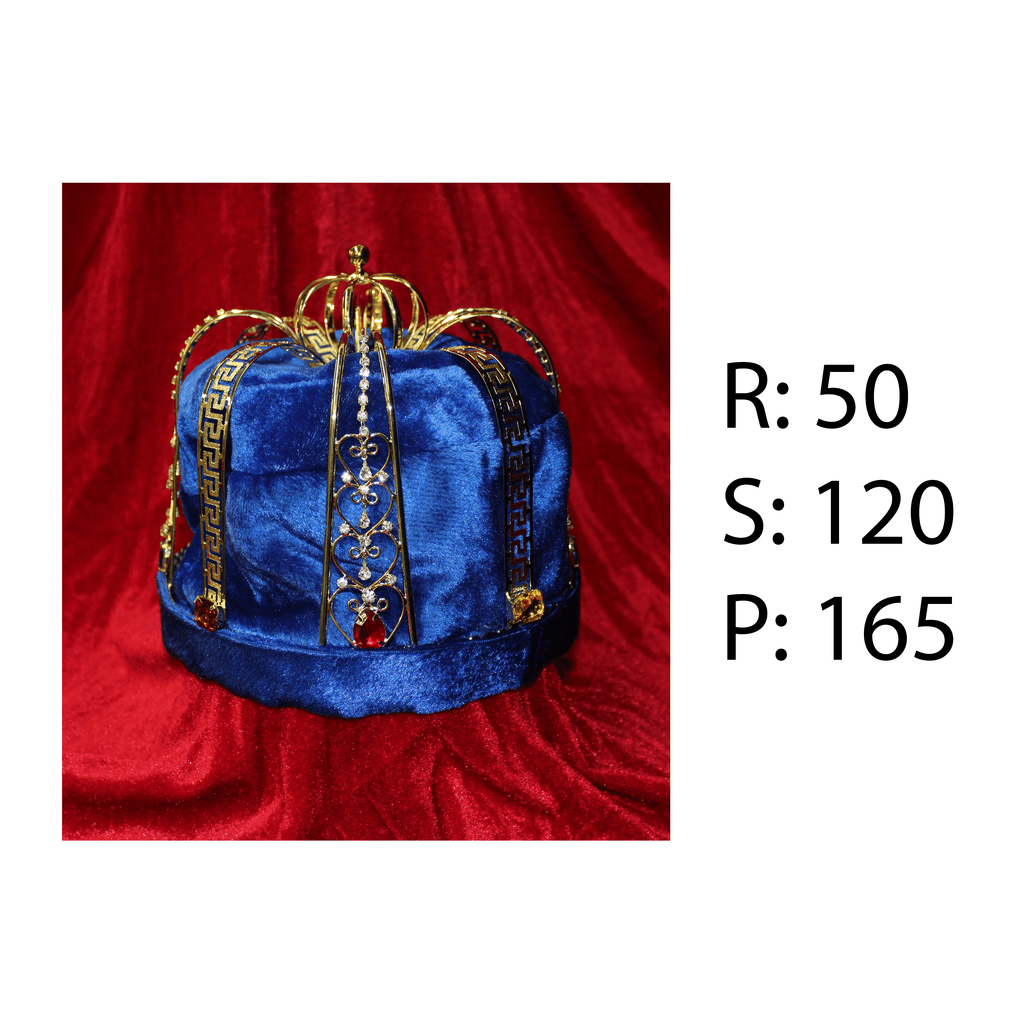 Rental - Crown with Royal Blue Lining