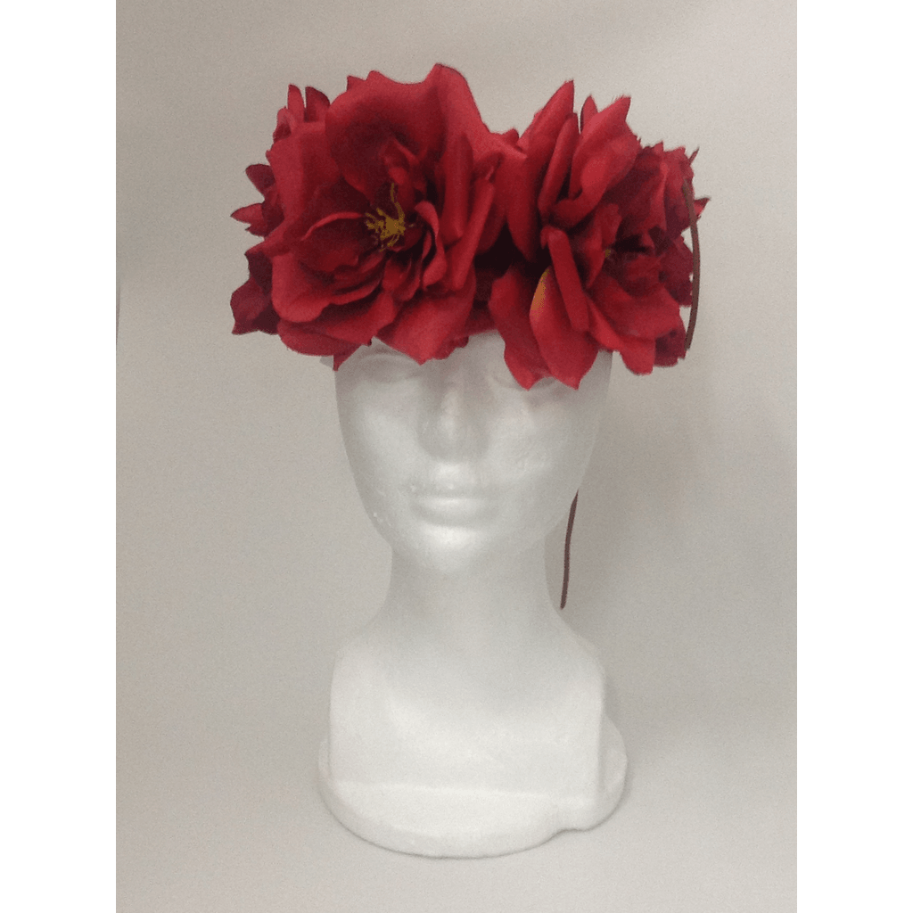Red XL Rose Flower Head Wrap