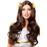 Brown Goddess w/ Wreath Combs Wig