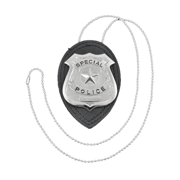 Police Badge on Chain