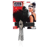 Deluxe Flapper Headband {Silver/Black}