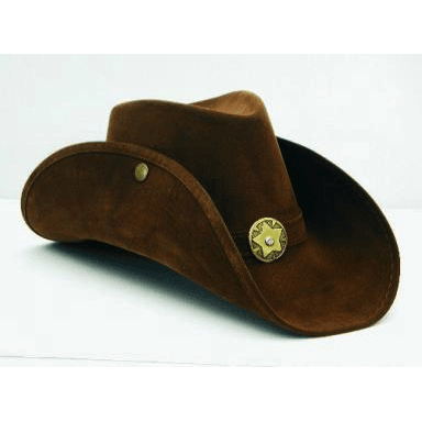 Brown Leather like Cowgirl Hat