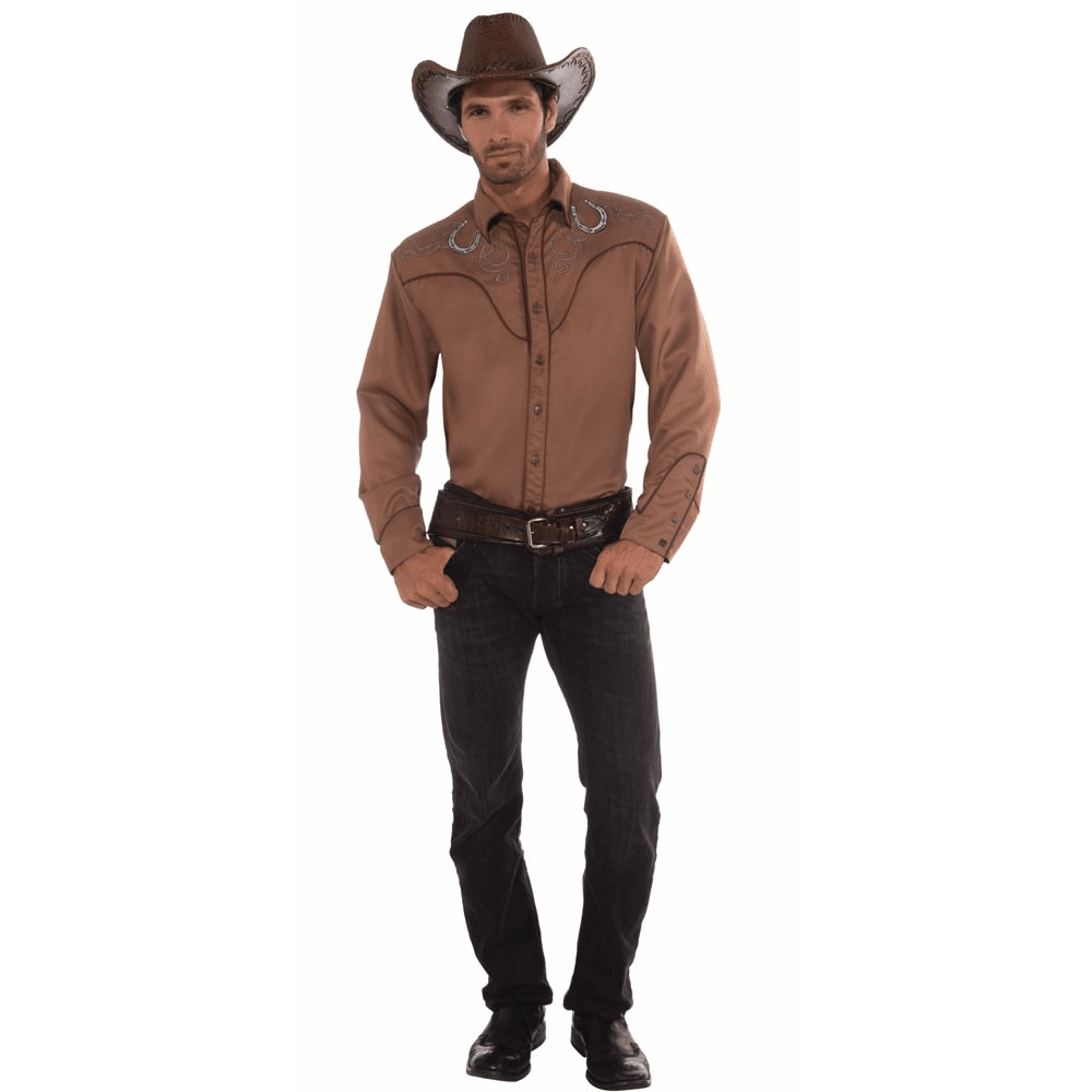Deluxe Brown Western Shirt