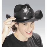 Black Sheriff Hat with Star