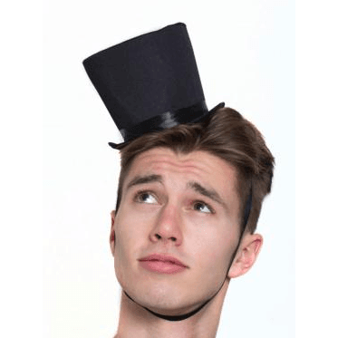 Old Time Mini Victorian Coachman Hat- Black