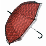 Red & Black Lace Umbrella