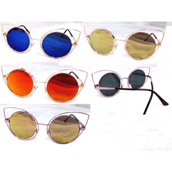 Teardrop Cat Eye Metal Revo Lens Sunglasses