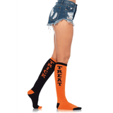 Trick or Treat Acrylic Knee Socks