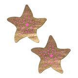 Gold and Pink Sea Star Pasties