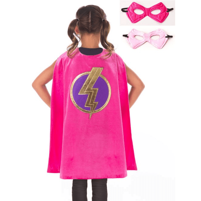 Girl Hero Cape and Mask Set