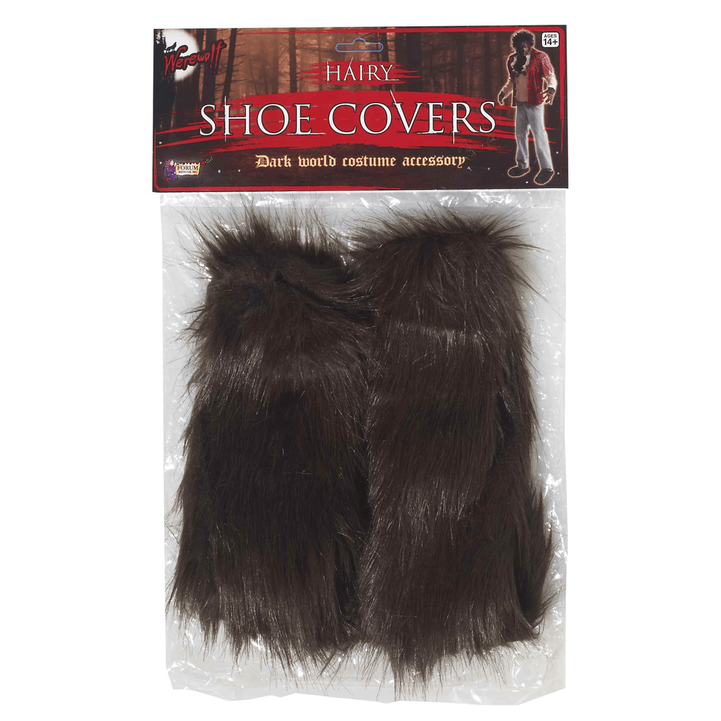 Brown Werewolf Hairy Shoe Covers