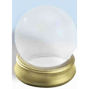 Crystal Ball With Attached Stand