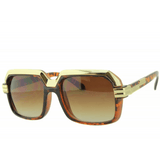 CAZAL STYLE(RUN DMZ) RAPPER SUNGLASSES GOLD TRIM TOP & SIDES