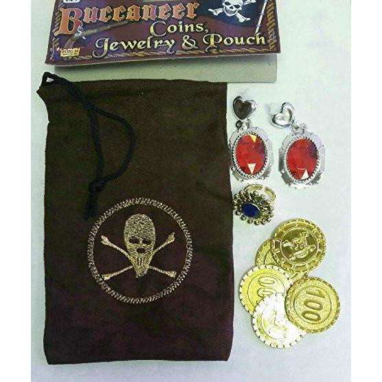 Buccaneer Coins, Jewelry & Pouch