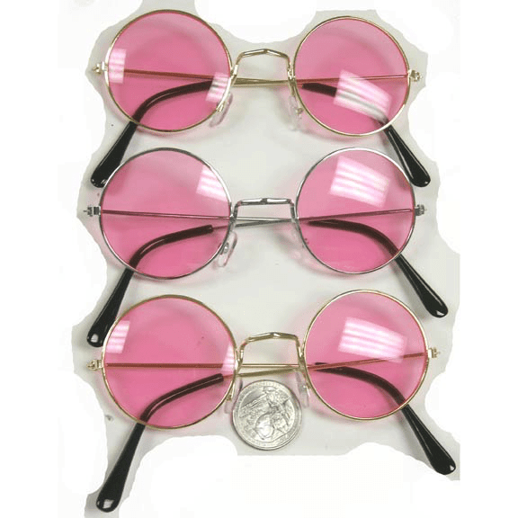 All Pink John Lennon Sunglasses