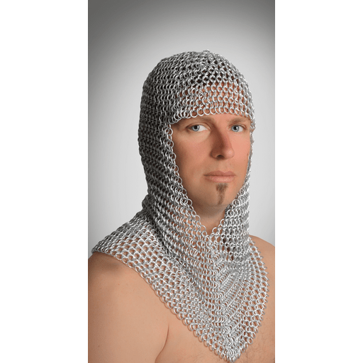 Long Aluminum Chain Mail Hood