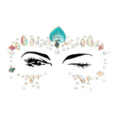 Multicolored Ariel Adhesive Face Jewels