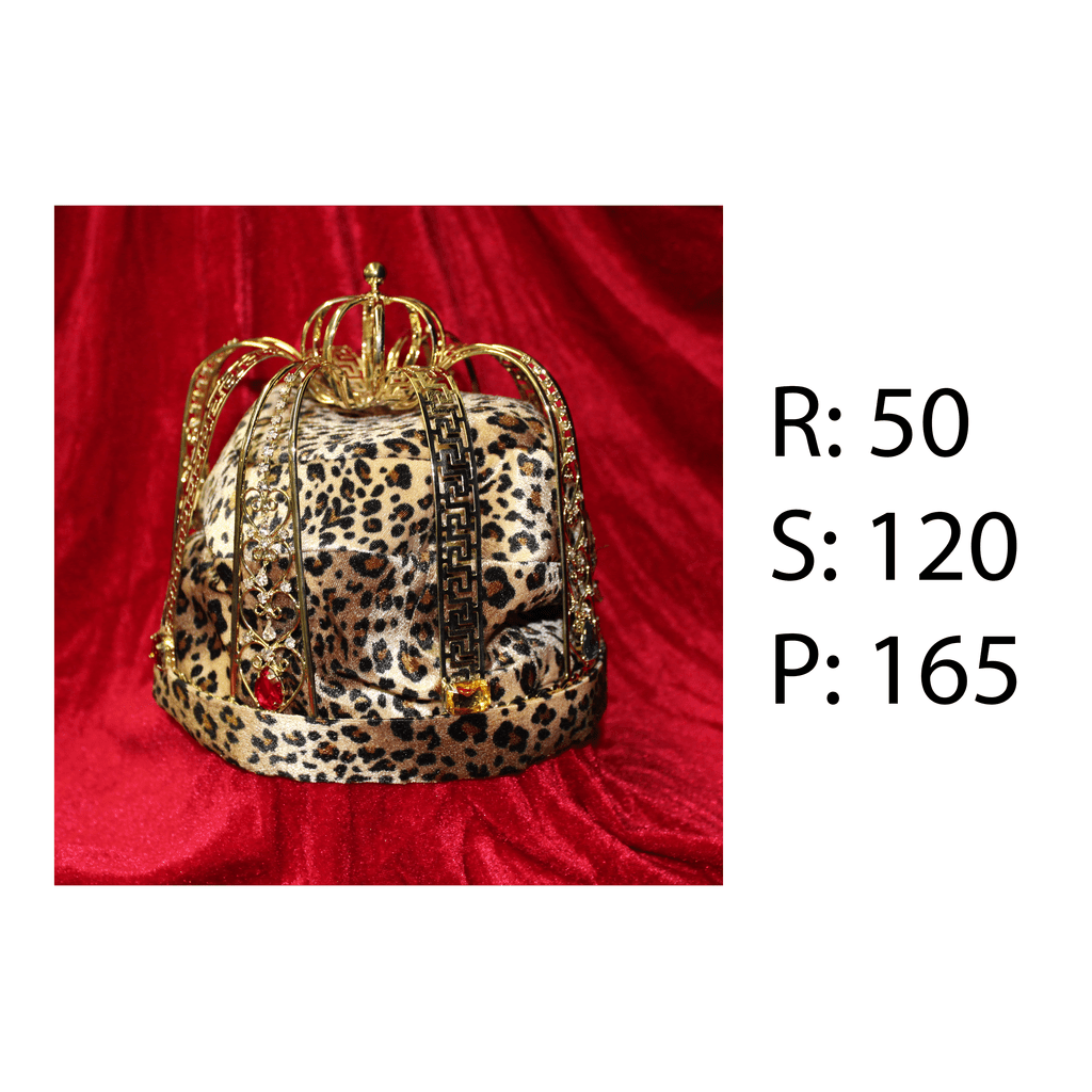 Rental - Crown with Leopard Lining