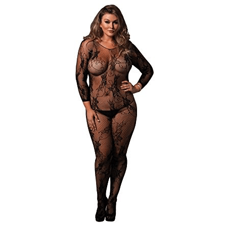 Plus SIze Floral Lace Body Stocking