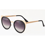 Cat Eye Sunglasses with Metal Accents Asstd