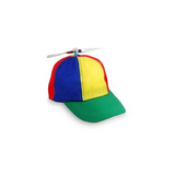 Multicolored Propeller Hat with Bill