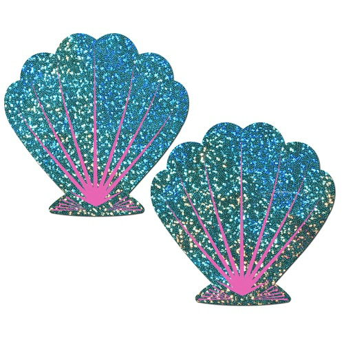 Seafoam Green and Pink Seashell Pasties