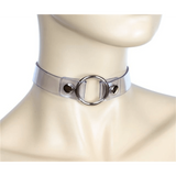 Clear Vinyl Choker with Ring