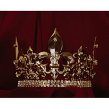 Gold Men's Crown with Seven Points