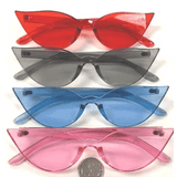 CAT SHAPE INJECTION MOLD STYLE ASSORTED COLORS SUNGLASSES