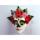 Day of the Dead Senorita Flowers Mask