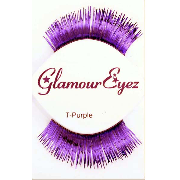 Purple Metallic Eyelashes
