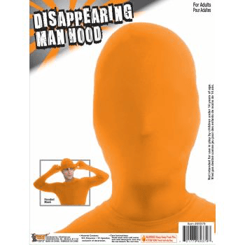 Orange Disappearing Man Hood^