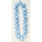 Light Blue Flower Lei with Beads